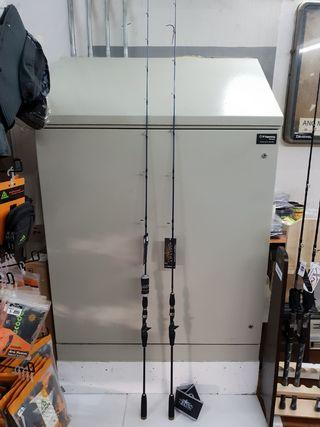 (Again & Just Arrival with Offers of 15% Less.!!- The 'AJIKING' 6ft Overhead Boat Jigging Rods.)= a).Ajiking-ATOM AT 612MLC.(6ft Butt joint Rod, PE 1-3, Lure Wt: 60-120g).  b).Ajiking-ATOM ATM 632MLC.(6ft 3in Butt joint Rod, PE 1-3, Lure Wt: 60-120g).