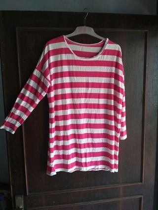 Oversize pink stripped