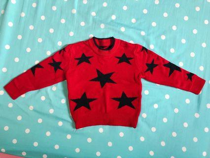 🚚 🔺星星針織毛衣(約1-2歲)