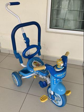 Preloved taihoyo foldable baby and toddler push tricycle