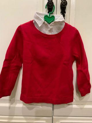 Preloved H&M shirt. size 86 ( for 12-18 months ) original.