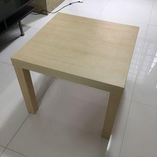 Side table, white stained oak effect, 55x55 cm