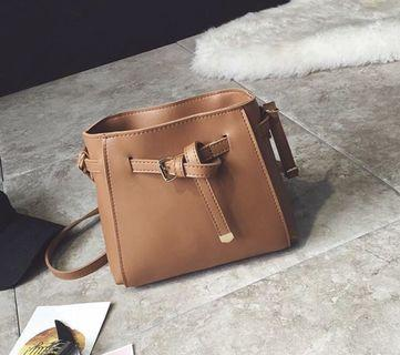 Small PU leather sling bag
