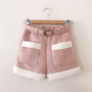 *NEW* Girls Quilted belted Shorts Size 8-9