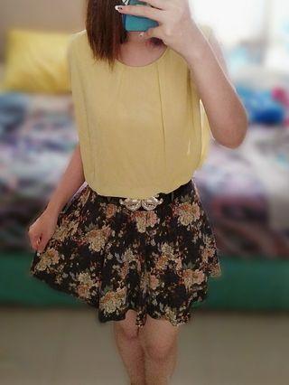 Chiffon Flowery Dress