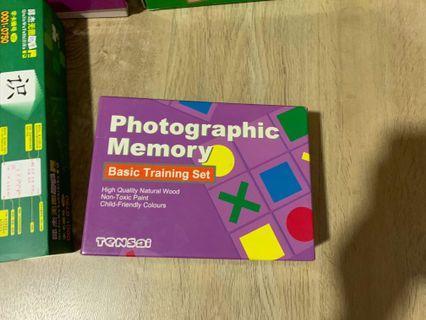 Tensai photographic memory training set