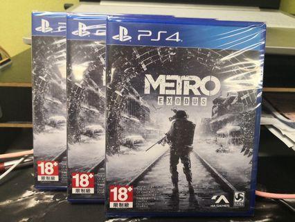 全新PS4 Metro Exodus 戰慄深隧:流亡行貨 中文