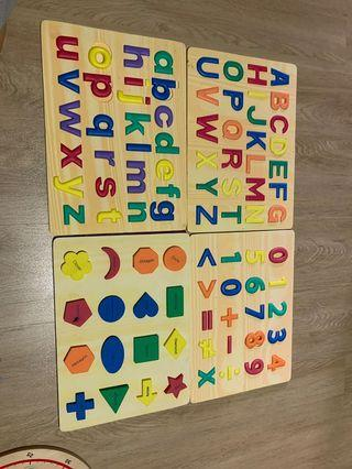 🚚 Alphabet/ numbers/ shapes  Puzzle safe Foam learning