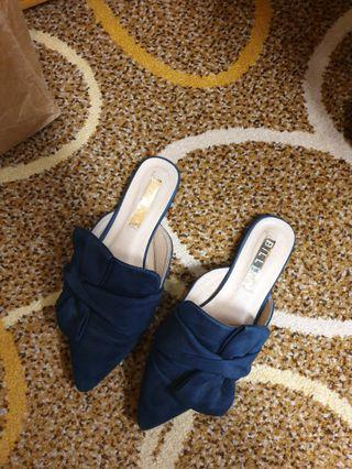 Navy Blue Mules