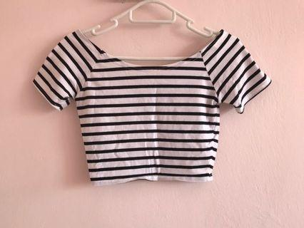 🚚 Striped Crop Top