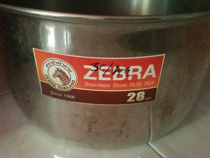 Zebra 28 cm stainless steel pot