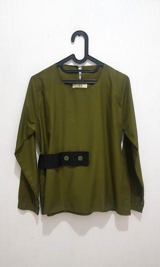 [Preloved] Green Blouse