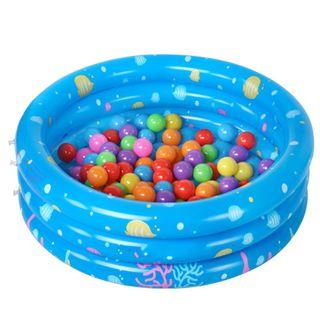 Inflatable Portable Kids Pool - blue , green