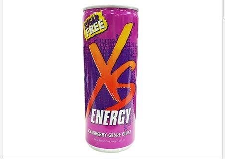 XS Energy Drink Cranberry-Grape Blast (24 Cans)