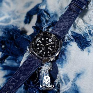 60d9a6fa7 Emery Dress Epsom Leather Strap in Navy (available in 20 and 22mm)