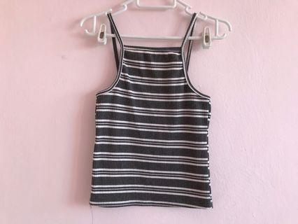 Striped grey halter top