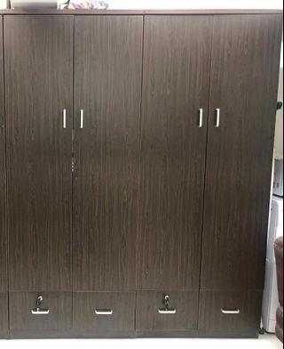 2 large tailor made wardrobes.