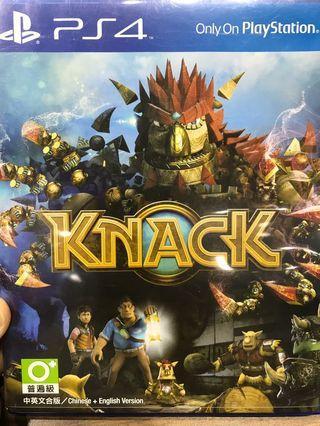 「花枝女」PS4 二手 KNACK 克拉克 納克 親子遊戲 中英文版
