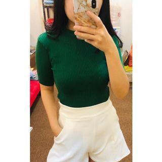 Knit Top Green Rajut