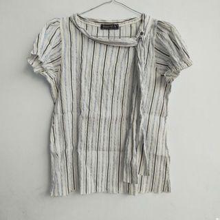 Top Stripe Blouse White