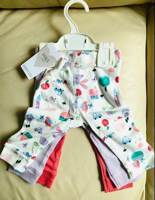 M&S 馬莎BB 長褲 初生 嬰兒褲