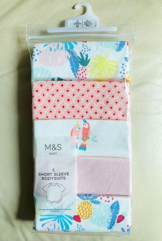 M&S 馬莎BB 夾衣 短袖 包屁衣 初生嬰兒衫