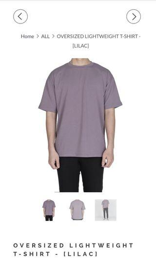 Basiclad light weight oversized cotton Tee Shirt Lilac