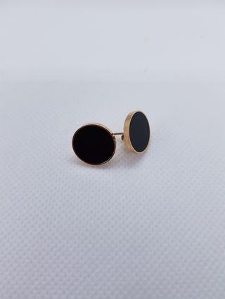 🚚 Casual Round Earrings (Black)