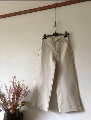 高腰棉麻寬褲 喜歡可議