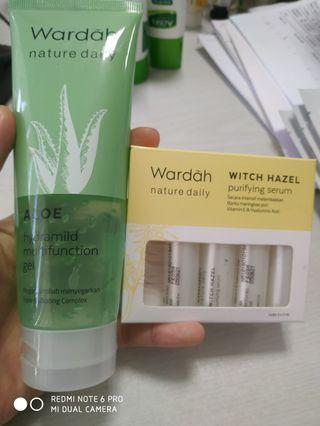 Bundling Wardah Aloe Vera Gel Dan serum