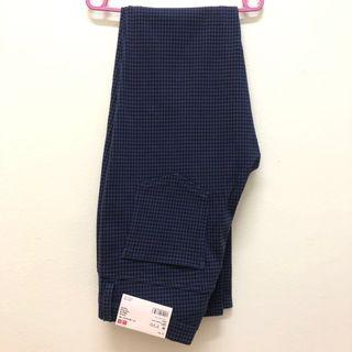 Uniqlo blue houndstooth printed Jegging