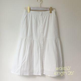 BNWT Lilypirates White embossed button down midi skirt