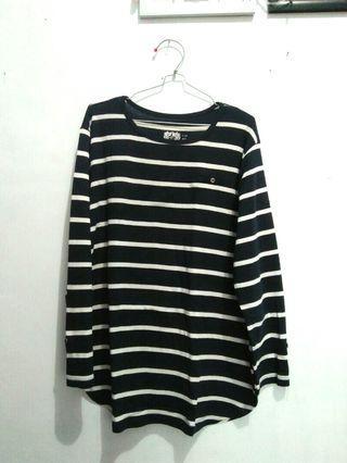 Stripes Biru Donker XL
