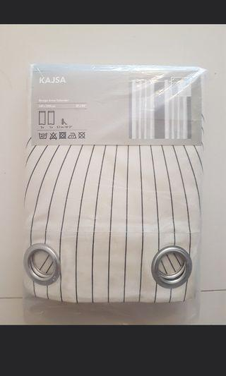 Gorden  Ikea Kajsa curtains, beige, gray 4buah