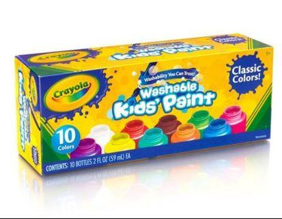 Crayola Washable Kids' Paint Classic - Pack of 10