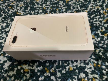 Kotak Iphone 8+ 256gb Rose Gold Original Box