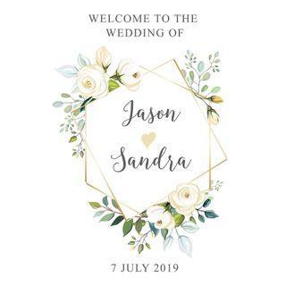 🚚 Wedding Welcome Signage