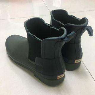 Hunter 24.5 軍綠 雨靴 靴子