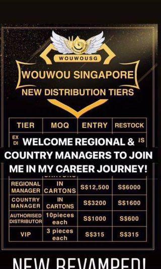 Wouwou Singapore distributor