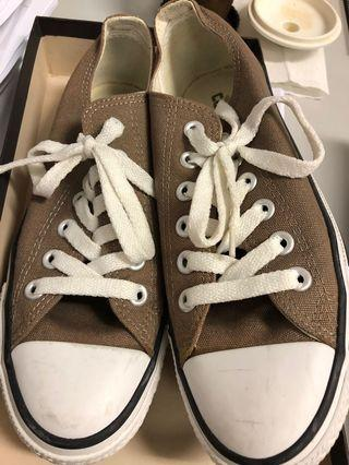 Converse taupe shoes size: 36.5