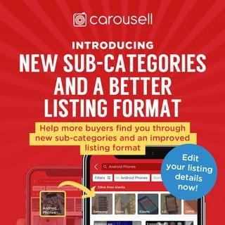 Edit your listing to new sub-categories!