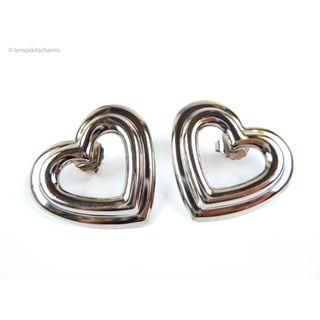 Vintage Avon 1990s Large Heart Earrings, er1809-c