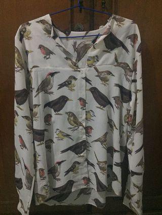 Kemeja motif burung (shirt bird pattern)