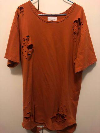 Saint Morta // orange T-shirt