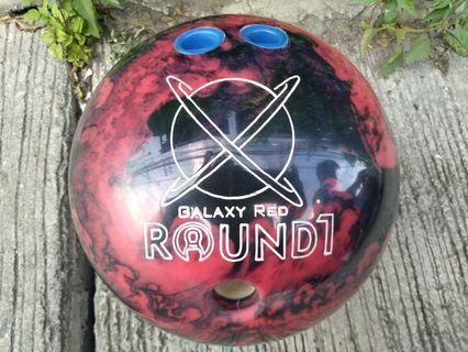 Bowling ball Round 1 Galaxy Red plastic 14 lbs