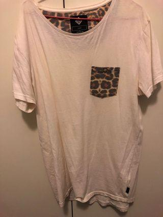 White and leopard T-shirt