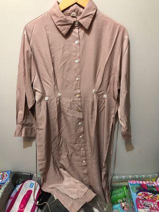 tunic dress sebetis kalau dipakai bisa utk outer juga like new