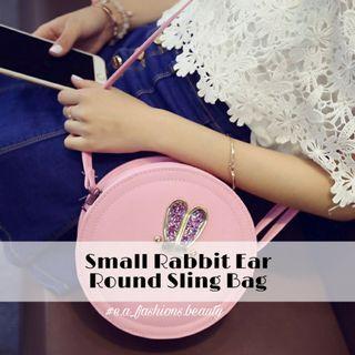 Small Rabbit Ear Round Sling Bag