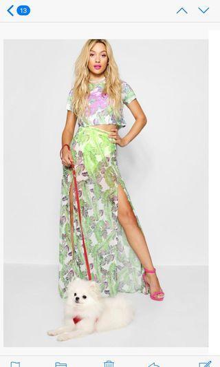 BNWT Paris Hilton Tropical Maxi Skirt