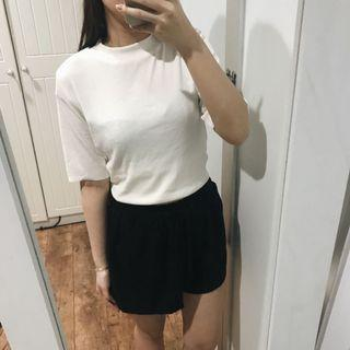 Et Cetera White Ribbed Top
